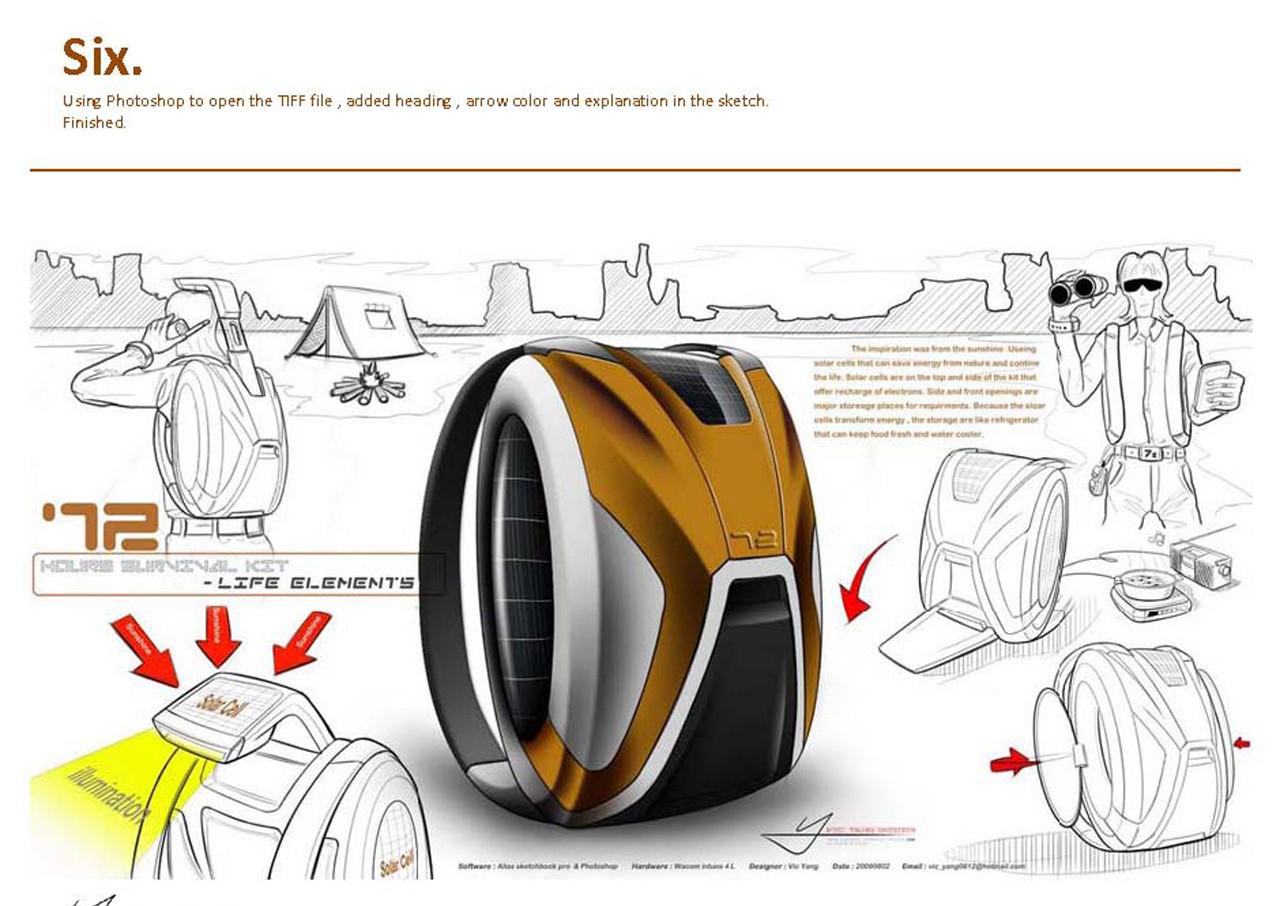 【详细步骤】书包设计手绘效果图教程